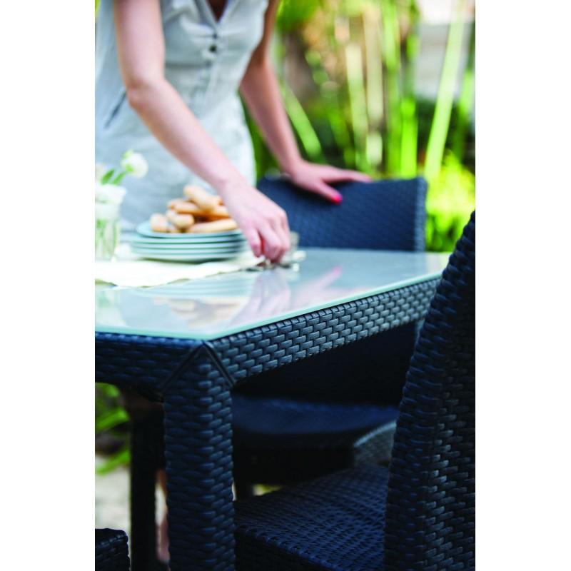 Keter Rattan Style 3 Drawer Cart.Sumatra Garden Table 94x94cm Keter