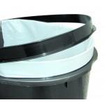 Καδος Πλαστικός Απορριμμάτων 95Lt Silver Κάδοι Απορριμμάτων