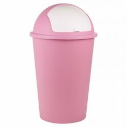 Κάδος πλαστικός απορριμμάτων PUSH BIN ΡΟΖ 50L
