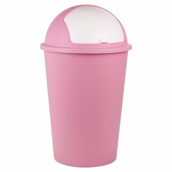 Κάδος πλαστικός απορριμμάτων PUSH BIN ΡΟΖ 50L Κάδοι Απορριμμάτων