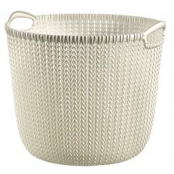 Καλάθι ρούχων στρογγυλό Knit 30L Εκρού Curver