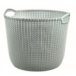 Καλάθι ρούχων στρογγυλό Knit 30L Γαλάζιο Curver