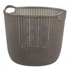 Καλάθι ρούχων στρογγυλό Knit 30L Καφέ Curver